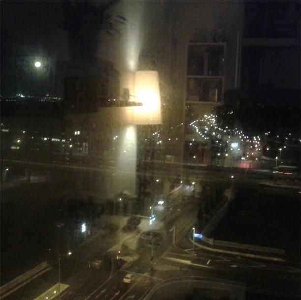 ochten donker wintertijd lichtjes