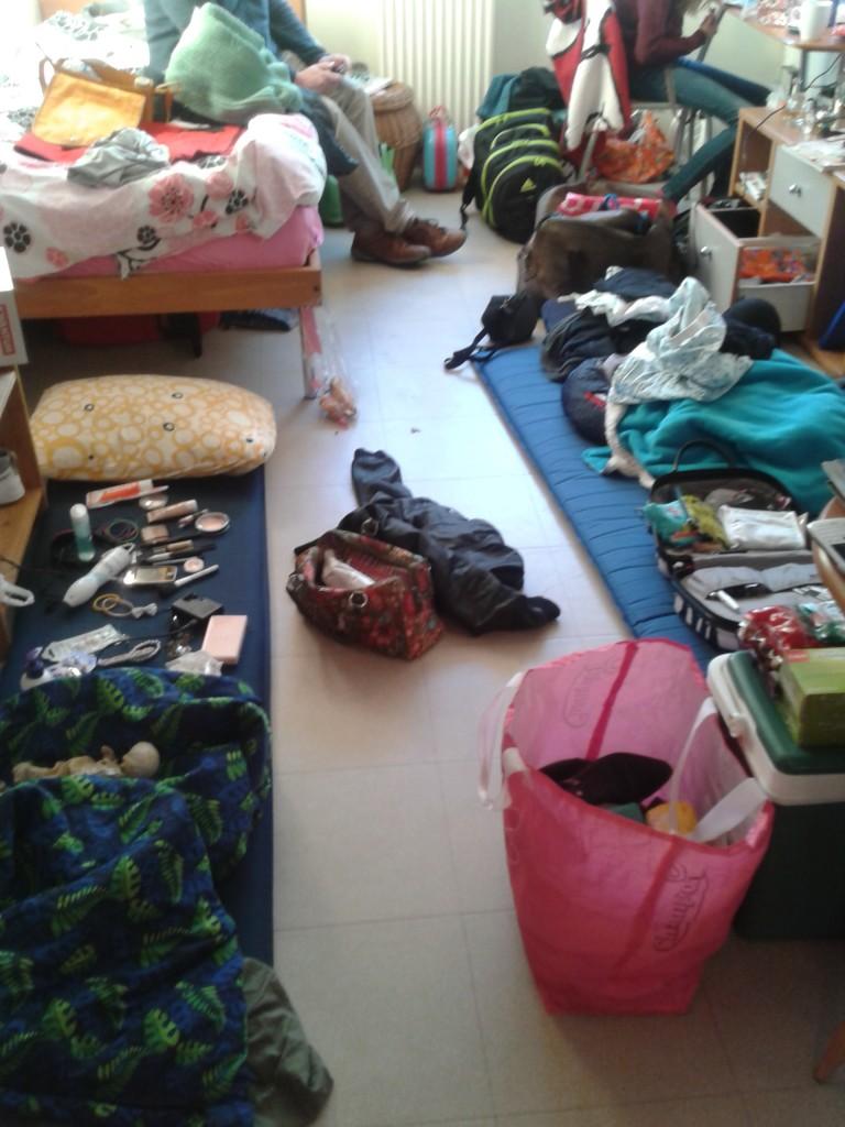 Deze ruimte moet ik dus verzekeren (dit was toen mijn zusje en haar vriendin bij me logeerden, geen zorgen)